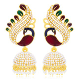 Sukkhi Ritzy Peacock Gold Plated Earring For Women