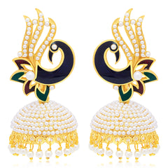 Sukkhi Modern Peacock Gold Plated Earring For Women