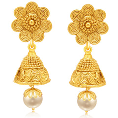 Sukkhi Traditionally Jalebi Gold Plated Earring For Women