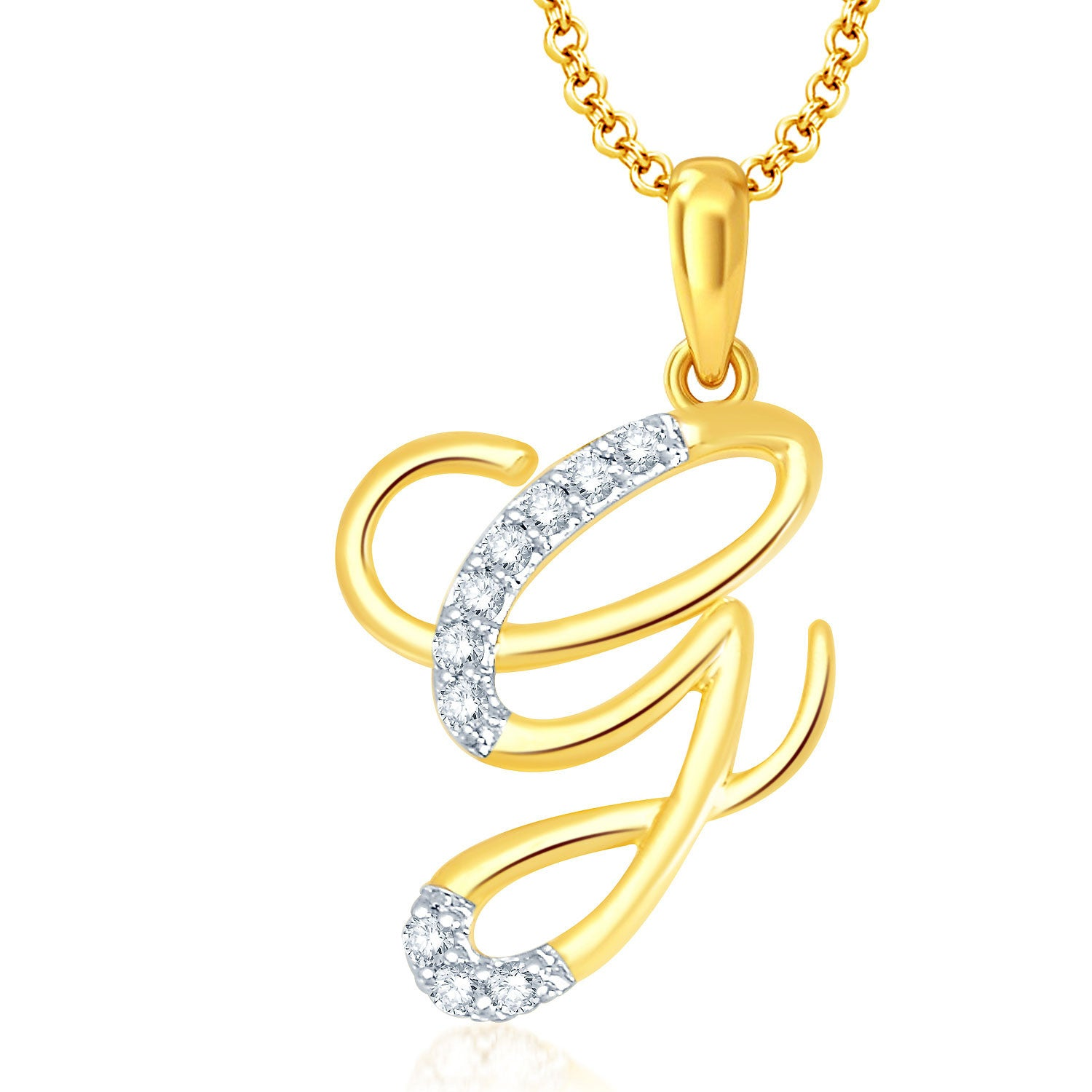 Pissara letter g gold and rhodium plated cz alphabet pendant pissara letter g gold and rhodium plated cz alphabet pendant aloadofball Image collections