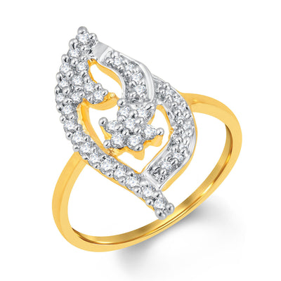 Sukkhi Incredible Gold and Rhodium Plated Cubic Zirconia Ring
