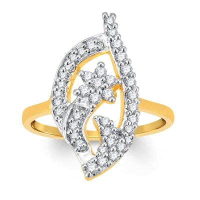 Sukkhi Incredible Gold and Rhodium Plated Cubic Zirconia Ring-1