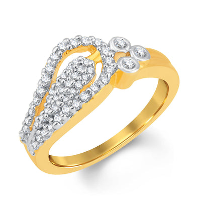 Sukkhi Marvellous Gold and Rhodium Plated Cubic Zirconia Ring