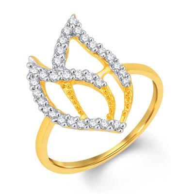 Sukkhi Sublime Gold and Rhodium Plated Cubic Zirconia Ring