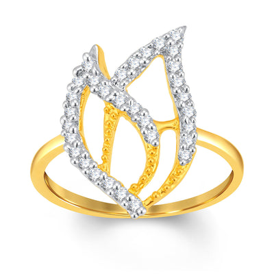 Sukkhi Sublime Gold and Rhodium Plated Cubic Zirconia Ring-1