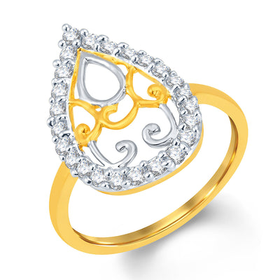 Sukkhi Ritzzy Gold and Rhodium Plated Cubic Zirconia Ring
