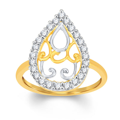 Sukkhi Ritzzy Gold and Rhodium Plated Cubic Zirconia Ring-1