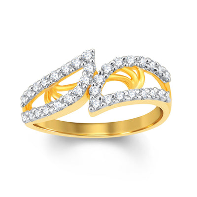 Sukkhi Amazing Gold and Rhodium Plated Cubic Zirconia Ring-1