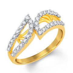 Sukkhi Amazing Gold and Rhodium Plated Cubic Zirconia Ring