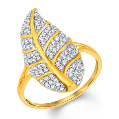 Sukkhi Angelic Gold and Rhodium Plated Cubic Zirconia Ring