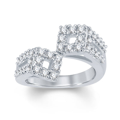 Sukkhi Glorious Rhodium Plated Cubic Zirconia Ring-1