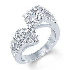 Sukkhi Glorious Rhodium Plated Cubic Zirconia Ring