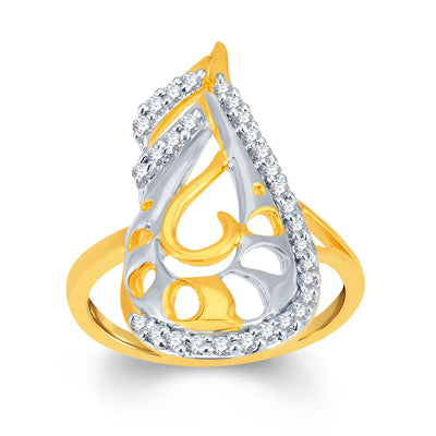 Sukkhi Finely Gold and Rhodium Plated Cubic Zirconia Ring-1