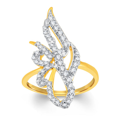 Sukkhi Bewitching Gold and Rhodium Plated Cubic Zirconia Ring-1
