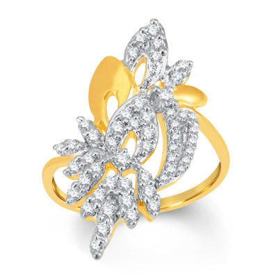 Sukkhi Ravishing Gold and Rhodium Plated Cubic Zirconia Ring-1