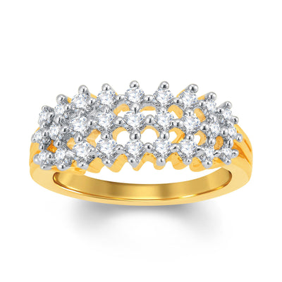 Sukkhi Fine Gold and Rhodium Plated Cubic Zirconia Ring-1