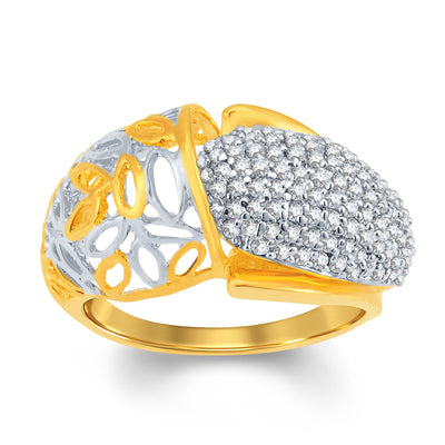 Sukkhi Fancy Gold and Rhodium Plated Cubic Zirconia Ring-1