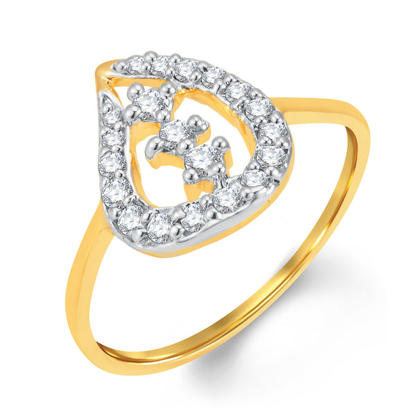 Sukkhi Alluring Gold and Rhodium Plated Cubic Zirconia Ring