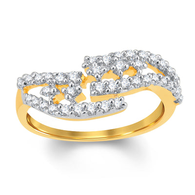 Sukkhi Exquitely Gold and Rhodium Plated Cubic Zirconia Ring-1