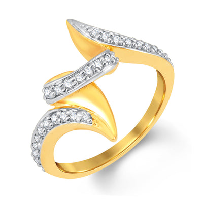 Sukkhi Classic Gold and Rhodium Plated Cubic Zirconia Ring