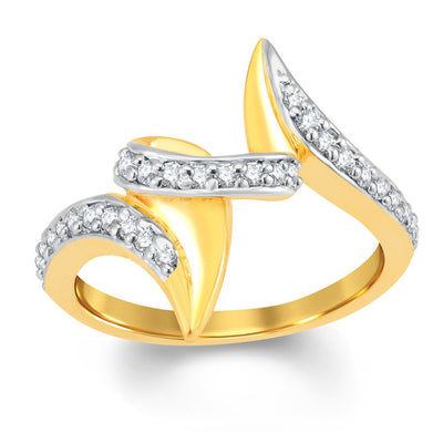 Sukkhi Classic Gold and Rhodium Plated Cubic Zirconia Ring-1