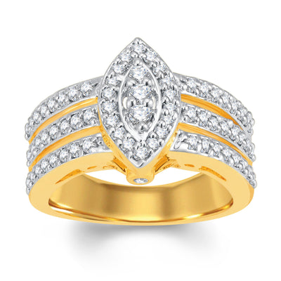 Sukkhi Delightly Gold and Rhodium Plated Cubic Zirconia Ring-1