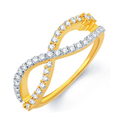 Sukkhi Stunning Gold and Rhodium Plated CZ Ring