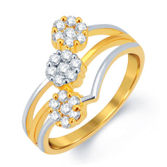 Sukkhi Amazing Gold and Rhodium Plated CZ Ring