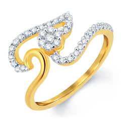 Sukkhi Angelic Gold and Rhodium Plated CZ Ring