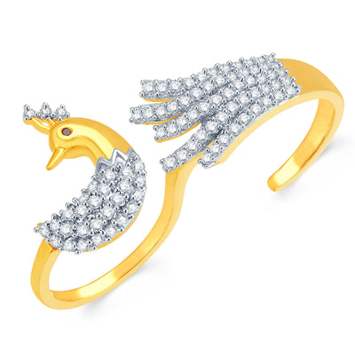 Pissara Exquisite Gold and Rhodium Plated CZ Ring
