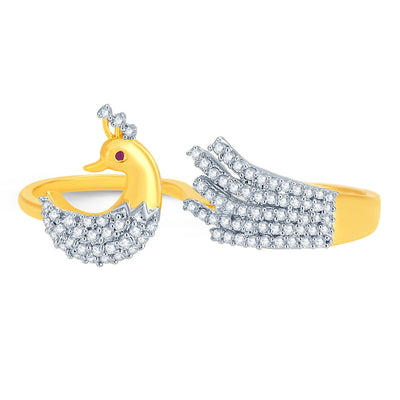 Pissara Exquisite Gold and Rhodium Plated CZ Ring-1