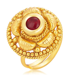 Sukkhi Ravishing Designer Traditional Cocktail Gold Plated Finger Ring For Women