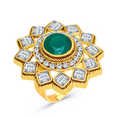 Sukkhi Finely Gold Plated AD Ladies Ring For Women