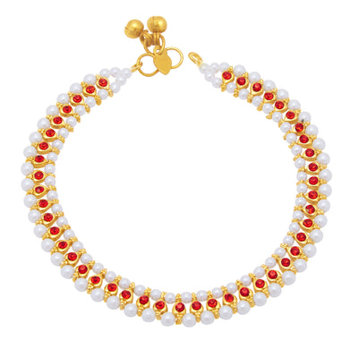 Sukkhi Fancy Gold Plated Anklet For Women-1
