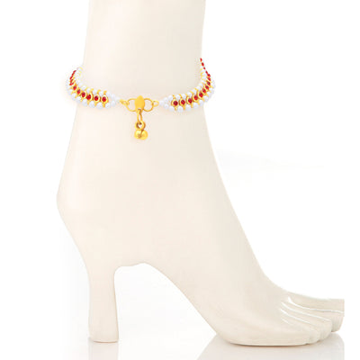 Sukkhi Fancy Gold Plated Anklet For Women-2