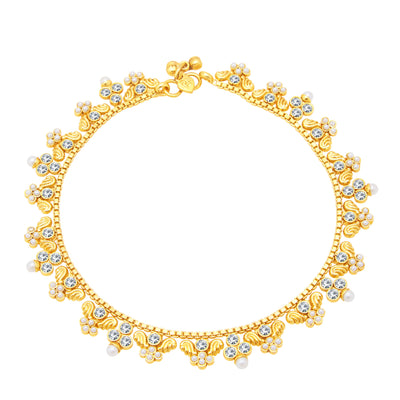 Sukkhi Classic Gold Plated Anklet For Women-1