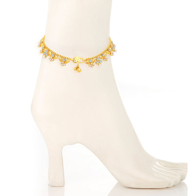 Sukkhi Classic Gold Plated Anklet For Women-2