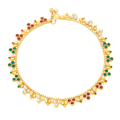 Sukkhi Delightly Gold Plated Anklet For Women-1