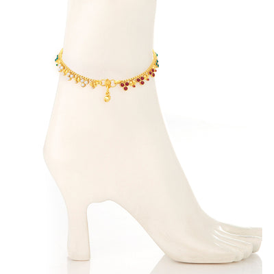 Sukkhi Delightly Gold Plated Anklet For Women-2