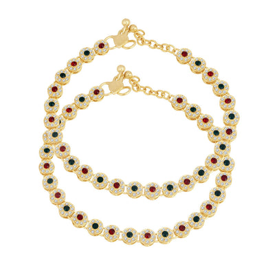 Trushi Trendy Gold Plated Anklet for women