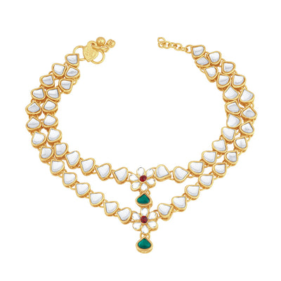 Trushi Ritzy Gold Plated Anklet for women
