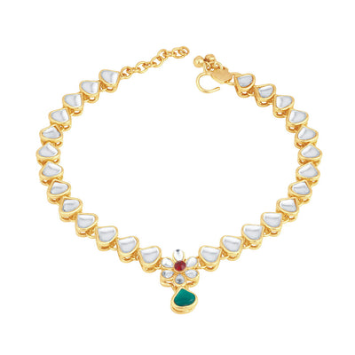 Sukkhi Classic Gold Plated Anklet for women