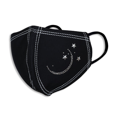 Sukkhi Attractive Swarovski Studded Breathable Cotton Reusable and Washable Anti-Pollution Unisex Mask