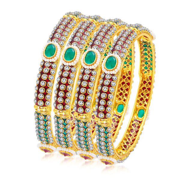 Sukkhi Alluring Gold Plated Bangle For Women