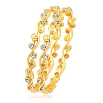 Sukkhi Shimmering Gold Plated Bangle For Women