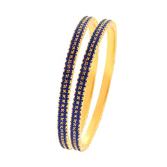 Sukkhi Gorgeous Blue Stone Studded Bangle For Women