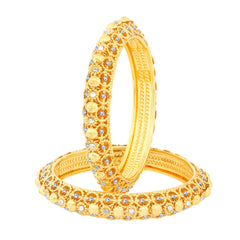 Sukkhi Enchanting Gold Plated Bangles For Women Set Of 2