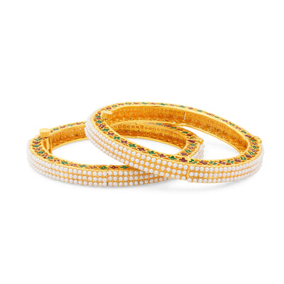 Sukkhi Fancy Gold Plated Bangles For Women Set Of 2-1