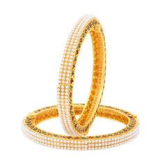 Sukkhi Fancy Gold Plated Bangles For Women Set Of 2