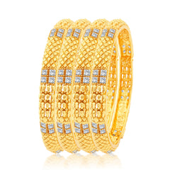 Sukkhi Intricately Gold Plated Bangles For Women Set Of 4